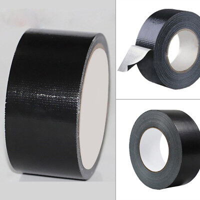 BLACK 48mm x 10m Gaffa Gaffer Cloth Tape Duck Duct Waterproof Heavy Duty Strong