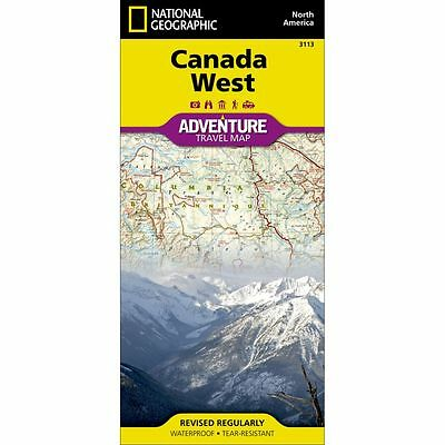National Geographic Canada WEST Adventure Travel Map - Map # 3113