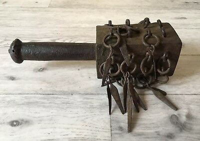 Very Rare Ancient Antique Tibetan Metal Rattle