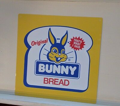 Bunny Bread metal advertising Repro Metal Sign 12 by 12 inches S15