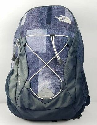 The North Face Women's Jester Backpack Laptop Bag Urban Navy Tryboro Print