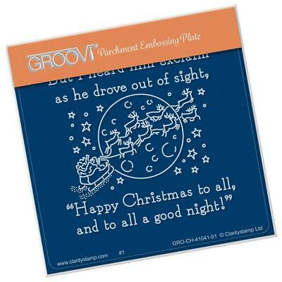 CLARITY STAMP GROOVI Parchment A6 Embossing Plate TWAS THE NIGHT 15 Good Night