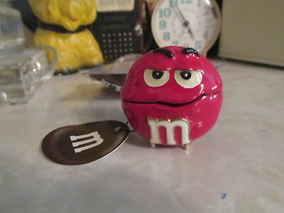 RED M/&M BIG FACE MONET JEWELRY BOX ENAMELED NEW $25.