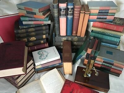 Lot of 10 ANTIQUE VINTAGE Hardcover OLD BOOKS 1880s - 1960 FINE
