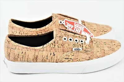 VANS AUTHENTIC CORK Tan Mens Size 8.5 Skate Shoes Womens Size 10 ... 30084ecd5c69