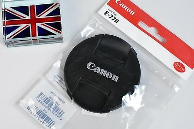 100% GENUINE CANON EF FRONT LENS CAP E-77II 77mm SNAP ON BRAND NEW IN BAG