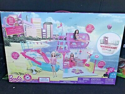 Barbie PINK Passport Cruise Ship Playset RETIRED HTF BRAND NEW Boat House Castle