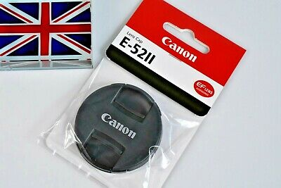 100% GENUINE CANON EF FRONT LENS CAP E-52II 52mm SNAP ON BRAND NEW IN BAG