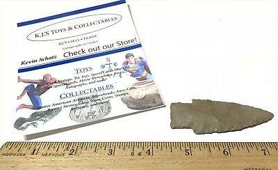 Stemmed Lance Woodland Point 3 inch Upper Mercer Flint Madison Co. OH Artifact