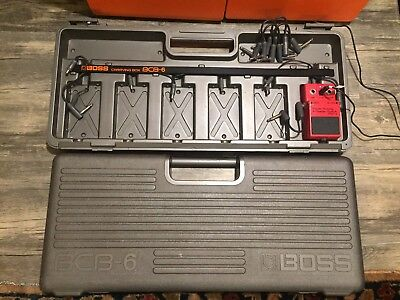 BOSS BCB-6 Pedal Board Case with PSM-5 w/ Cables Roland Guitar Effect