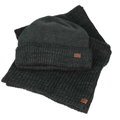 Camel Active Set Box Hat Scarf Anthracite Marl 8A29 407290 08