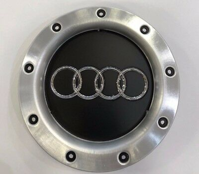 4x 147mm AUDI BLACK RS4 TT STYLE WHEEL CENTRE CAPS TT A1 A3 A4 A5 A6 A7 A8 Q7