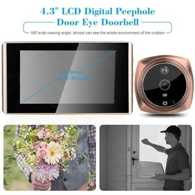 4.3inch LCD Digital Peephole Viewer Video Camera Monitor Doorbell PIR Sensor