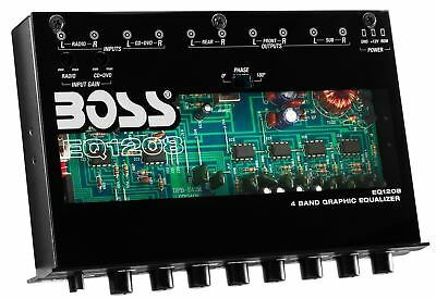 BOSS AUDIO EQ1208 4 Band Pre-Amp Equalizer