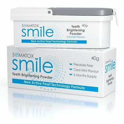 SOMATOX SMILE - Teeth Brightening Whitening Powder | 6 Mth Supply • OFFICIAL