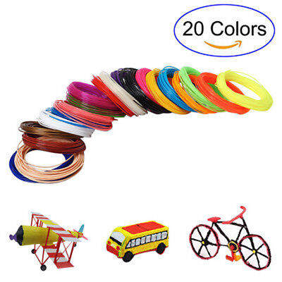 10/20 Pcs Colorful 5m 3D Pen Filament PLA 1.75mm For 3D Drawing Printer Pen Set