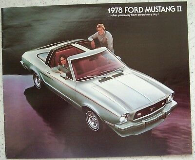 1978 Ford MUSTANG II brochure -  near MINT original
