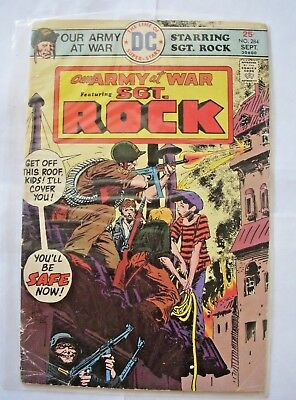 OUR ARMY AT WAR #284 in VG/FN 1972 DC WAR comic SGT ROCK - plastic cover!!!