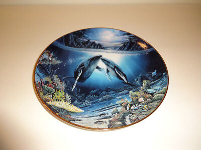 MOONLIT MOMENT, by Robert Lyn Nelson, collector plate, 1991