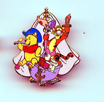 JDS Disney Japan Winnie the Pooh Tigger & Piglet Playing Pirate on Ship LE Pin