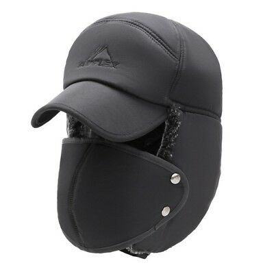152b007a7 OUTDOOR CYCLING COTTON Windproof Thick Warm Snow Cap +Face Mask Caps Hats