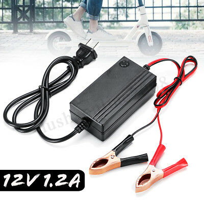 12V 1.2A Plomb-acide Chargeur de Batterie Intelligent Pr Voiture Moto Scooter