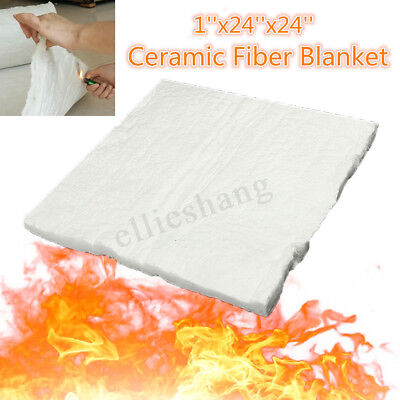 "24""x12"" 1206 ℃ Ceramic Fiber Blanket Thermal High Temperature Insulation Carpet"