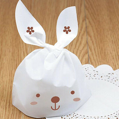 10-200pcs Cartoon Rabbit Snack Bags Plastic Candy Box Gift Bags Wedding Party D