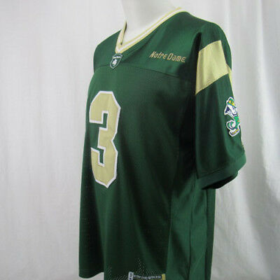 size 40 fb7c9 41d11 NOTRE DAME FIGHTING Irish Football Jersey #3 Joe Montana Sz Medium Majestic