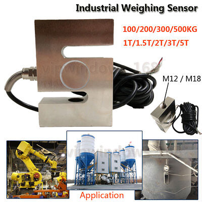 Industrial Load Cell Scale Weighing Sensor Force Weight Measuring Tool 100kg~5T