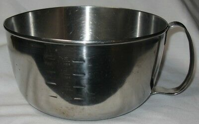 Vintage West Bend Grip N Whip Stainless Steel Mixing Bowl 2 1/2 qt