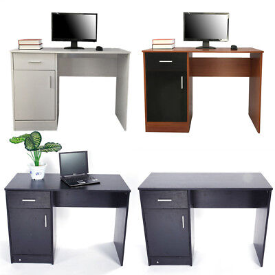 Durable Computer Desk Home Office Study Laptop PC Table with Drawer Shelves UK