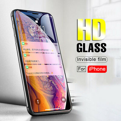 "For iPhone X XS MAX 6.5"" XR 6.1"" 9H Tempered Glass Front Protector Clear Film"