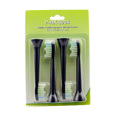 4x for Philips Sonicare Diamondclean Black Standard Toothbrush Heads HX9350/53