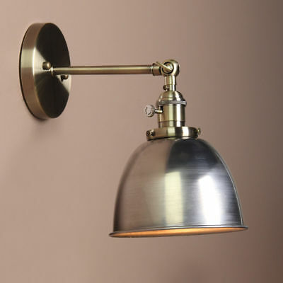 Pathson Metal Lampshade Antique Vintage Industrial Loft Bronze Sconce Wall Light