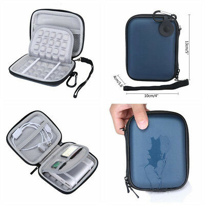 """External Hard Disk Drive Case Power Bank Shockproof Bag Cover Fits For 2.5"""" HDD"""