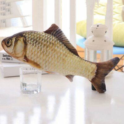 Pet Cat Play Crucian Fish Shape Mint Catnip Chewing Kids Gifts Scratch Toy UP