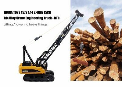 HUINA TOYS 1572 1:14 2.4GHz 15CH RC Alloy Crane Engineering Truck RTR w Movable