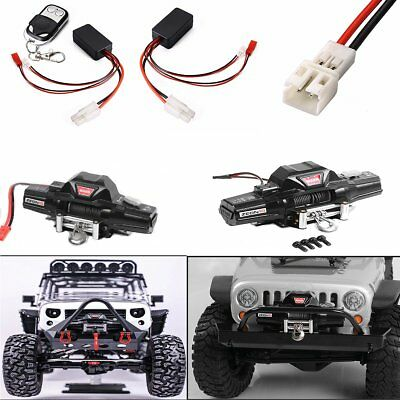 Simulated Metal Double Motor Winch For 1/8 RC RC4WD D90 Axial SCX10 TRX-4 KM2