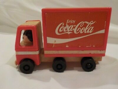 Vintage Made in HONG KONG Coca-Cola Plastic Toy Truck