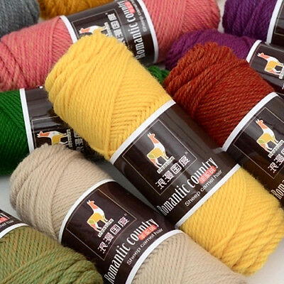 100g Alpaca Wool Medium Thickness Yarn Soft Worsted knitting Crochet Thread New