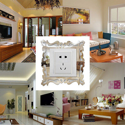 4PCS SWITCH STICKER Mirror Flower Vine Light Surround Cover Decal Frame  Wall DIY