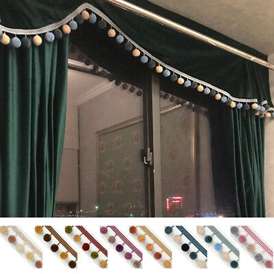 1M Pom Pom Bobble Ball Trim Fringe Ribbon Curtain Tassel Sewing Accessory Lace