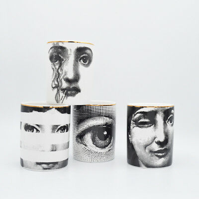 Fornasetti Candle Holder Home Classical Yoga Room Candle Jar Makeup Pen Holder