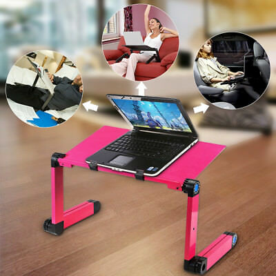 Adjustable Portable Folding Laptop Table Stand Tray Computer Desk for Sofa