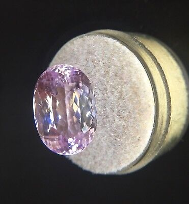 Big NATURAL Vivid Pink Kunzite 13.52ct Oval Cut Spodumene Loose Gem