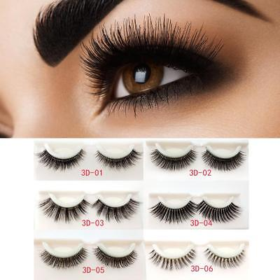 3D No Glue Reusable False Eyelashes Self Adhesive Makeup Fake Lashes Extension