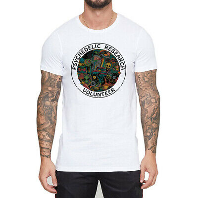 Psychedelic Research Volunteer Printed Men's T-shirts funny Short Sleeve Top Tee
