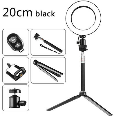 """18"""" 5500K LED SMD Photography Ring Light Dimmable Lighting Stand Kit For Phone"""