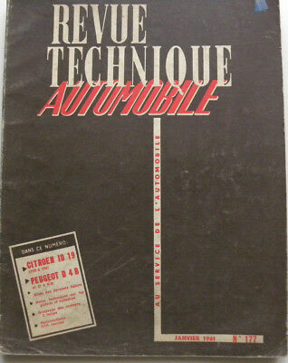 revue technique automobile RTA CITROEN ID 19 / PEUGEOT D 4B n° 177
